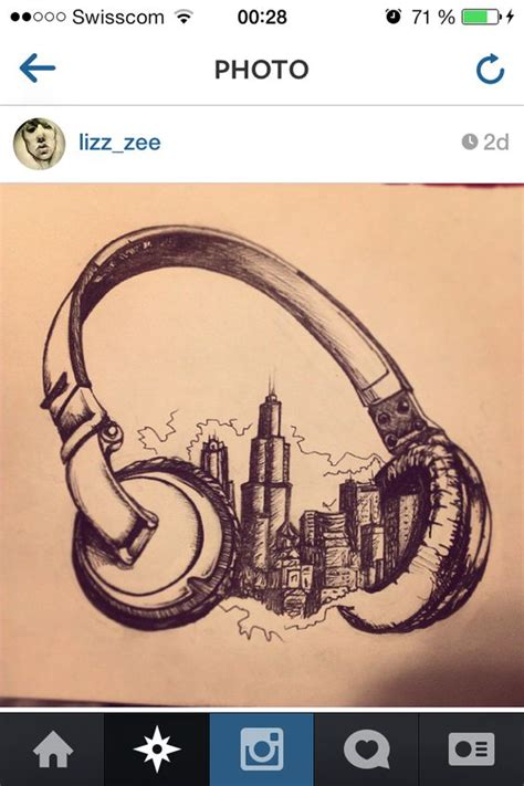 radio tattoos designs headphones city dreams