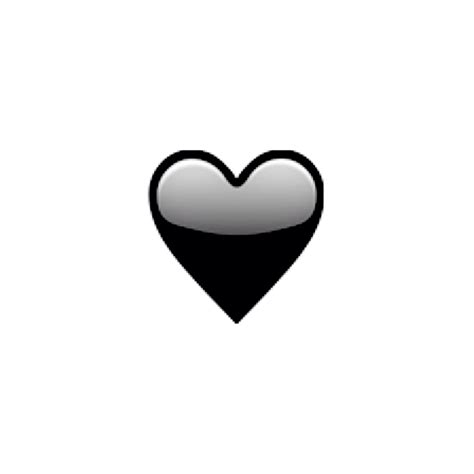 emoji heart black black and white heart emoji pictures to pin on pinterest