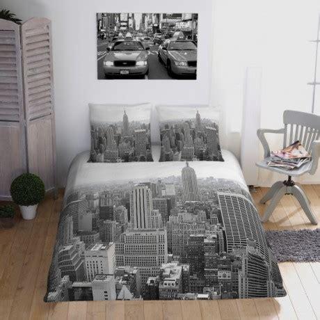 Couette Imprimée New York 2 Personnes by Branchez Vous Sur New York En Noir Et Blanc Decodeo