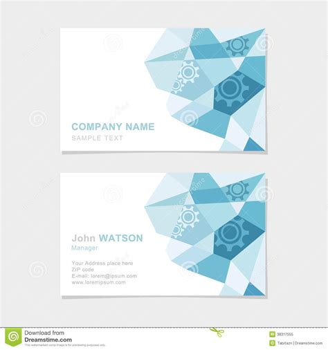 pattern name card vector modern business card with flat abstract triangle p stock