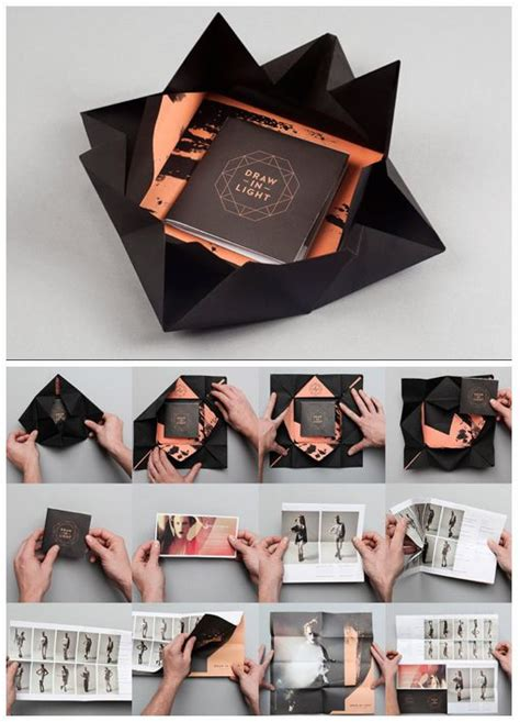 How To Fold Paper Into Brochure - 25 best brochure ideas on leaflet printing