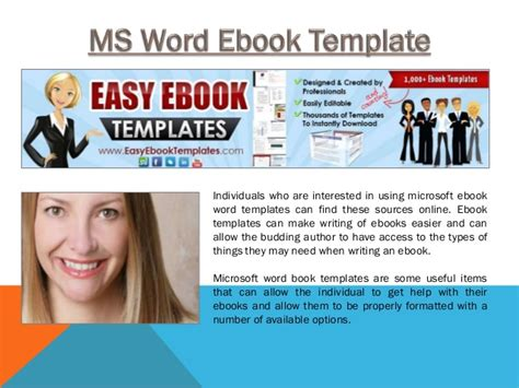 Ms Word Ebook Template Ebook Template Word Free
