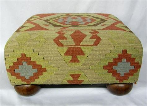 kilim covered ottoman kilim rug covered ottoman made by the bombay co