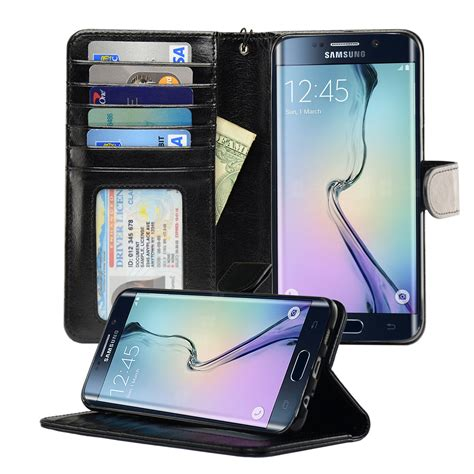 Samsung Galaxy S6 Edge Plus Leather Wallet Soft Cover C Diskon samsung galaxy s6 edge plus wallet cellphonewalletcases