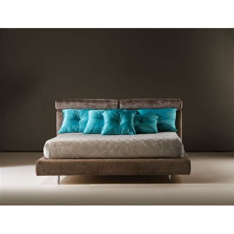 plush headboard plush velvet salvadore bed with roll back headboard