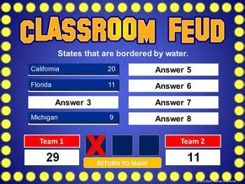 Classroom Feud Powerpoint Template Plays Like Family Feud Teaching Style And Classroom How To Make Your Own Family Feud On Powerpoint