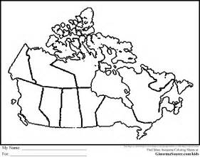canadian map coloring page images