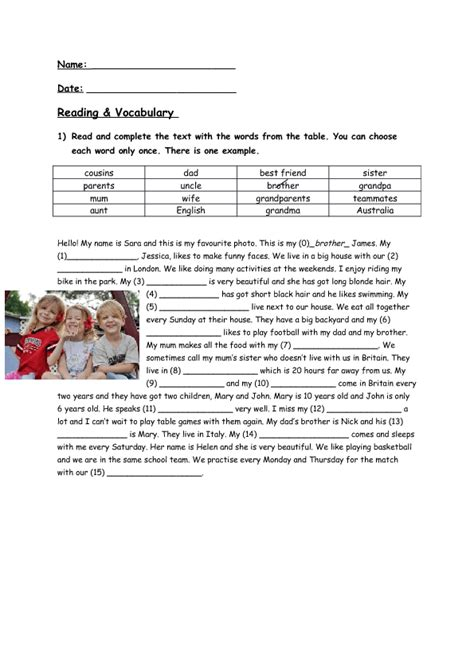 biography questions for family members 14 401 free vocabulary worksheets