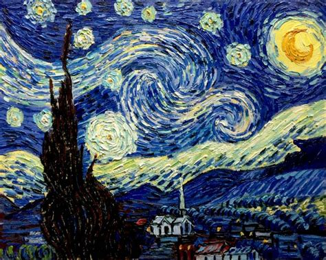 Starry Nights gogh starry reproduction painting