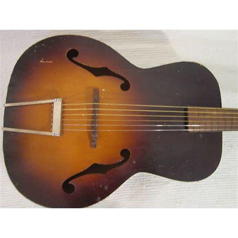 vintage 1950s kay acoustic guitar sunburst silvertone