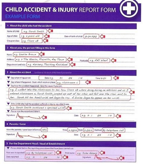 layout of an accident report injury report form template images template design ideas
