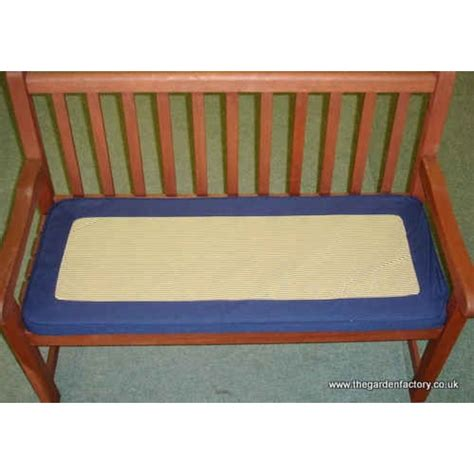 garden bench cushions 2 seater 2 seater bench cushion blue the garden factory