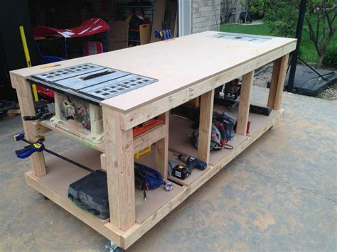 mobile woodworking bench plans home design ideas cool