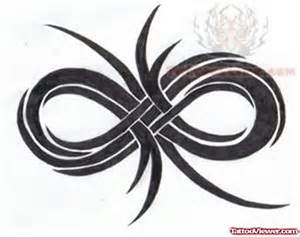 Tribal Infinity Infinity Symbol With Family Faith Design