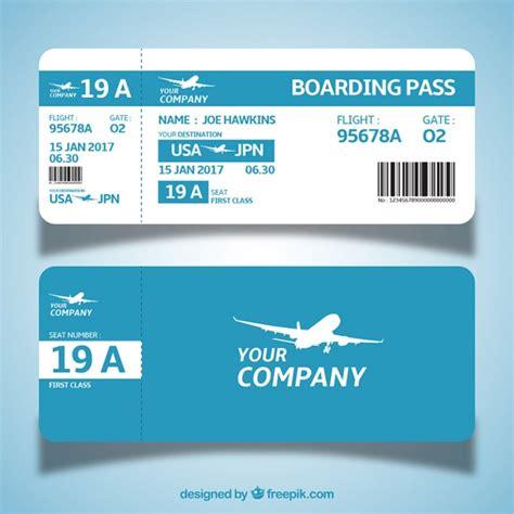 boarding pass boarding pass template free
