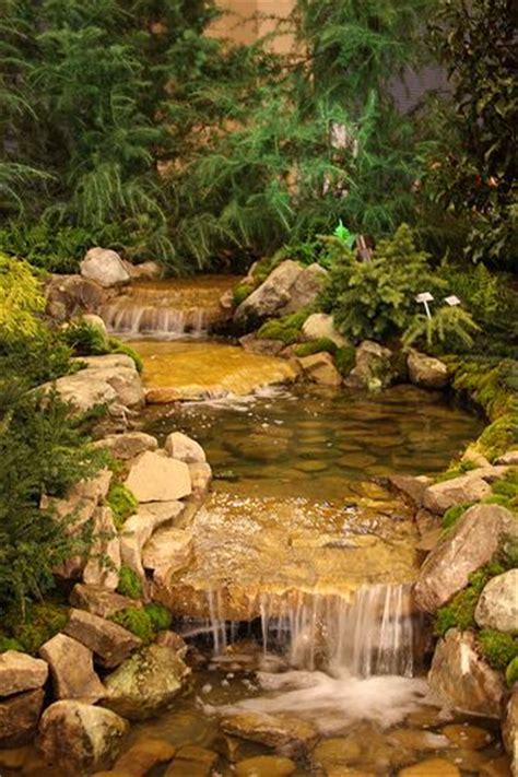 outstanding natural garden stream designs