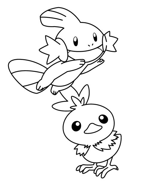 pokemon coloring pages torchic free coloring pages of mudkip