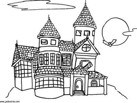 spooky castle coloring page spooky deserted mansion coloring pages hellokids com