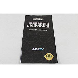 sega genesis manuals manual jeopardy sega genesis