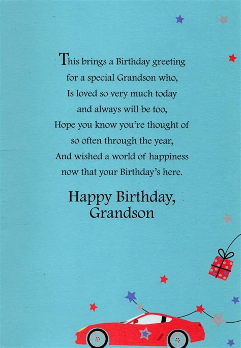 Grandson Birthday Wishes Greeting Cards Grandson Happy Birthday Greeting Card Cards Love Kates