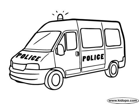 Police Van Coloring Page | police van coloring page