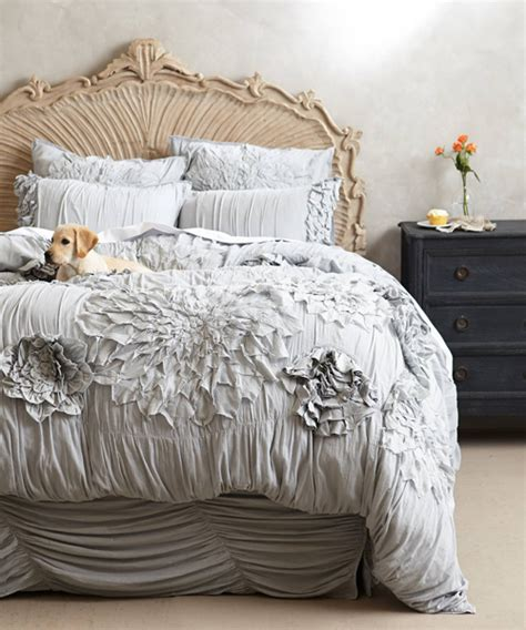 anthropology bed anthropologie bedding ruffled duvet cover