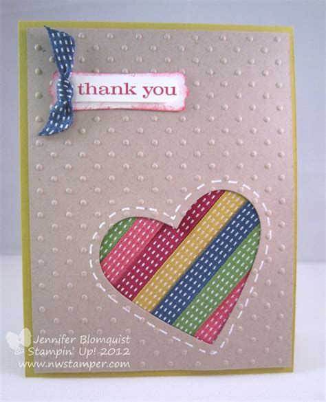 Using Ribbon Scraps The Ribbon Card Northwest Ster