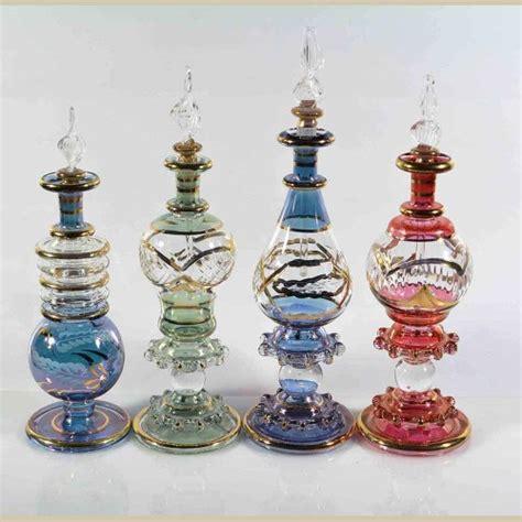 Handmade Perfume Bottles - set of 4 pieces of medium handmade perfume bottles