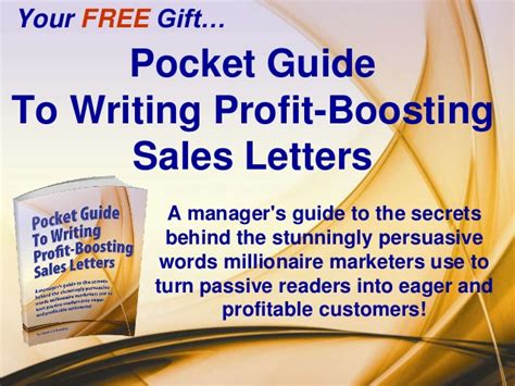 sales letter writing know how free pocket guide
