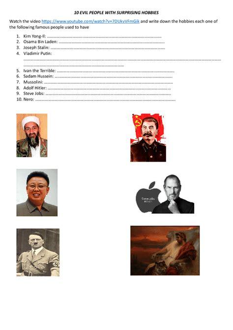 hitler biography worksheet 295 free sports and hobbies worksheets