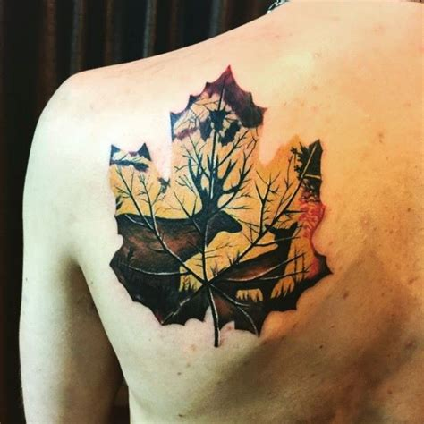 leaf tattoos the gallery for gt fall leaves