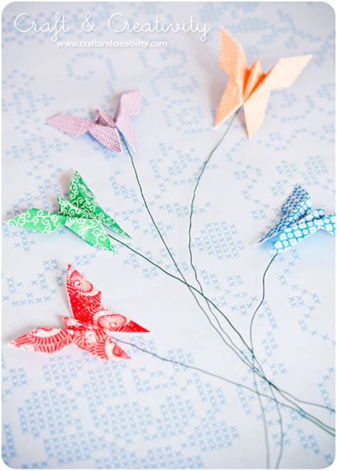 Origami Butterflies - origami butterfly flowers you can t kill