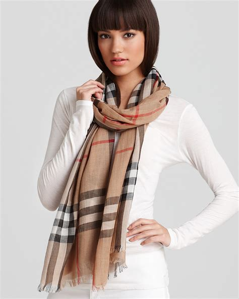 burberry check gauze scarf bloomingdale s