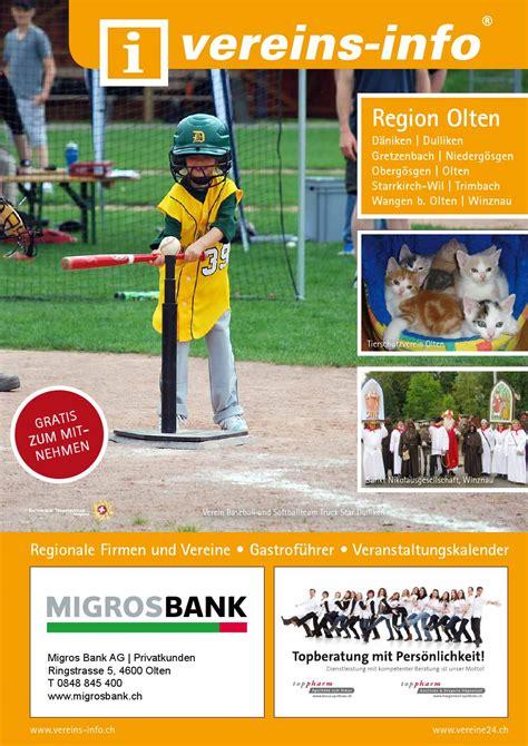 migros bank helpline vereins info olten 2014 by miplan ag issuu