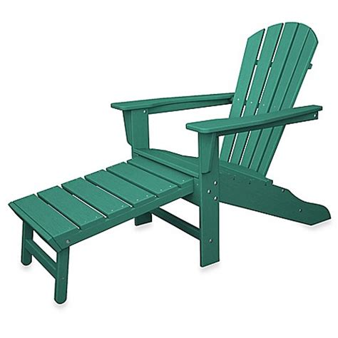 adirondack chair and ottoman polywood 174 south ultimate adirondack chair with