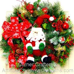 santa christmas wreath cornercrafters com xmas wreaths