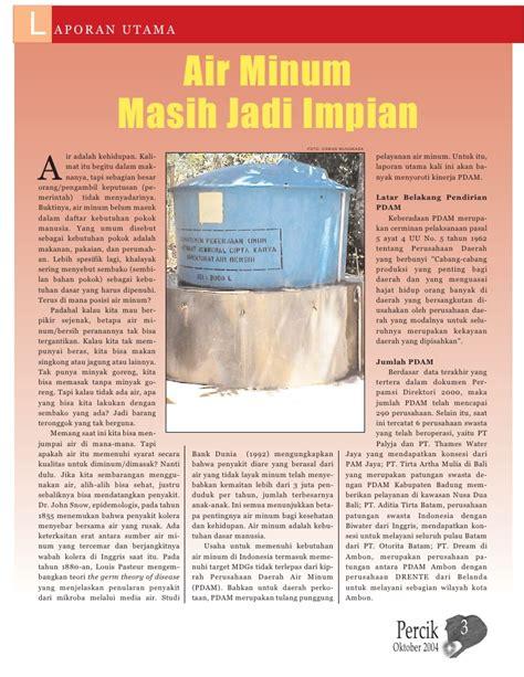Majalah Kawasan Pluit Dan Sekitarnya Media Kawasan Oktober 2007 majalah air minum dan penyehatan lingkungan percik vol 6 oktober 2