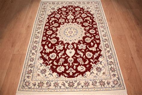 teppich läufer rot teppich perser teppich nain 9la mit seide 155x105 cm rot