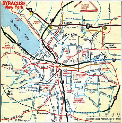 syracuse map interstate guide interstate 481 new york