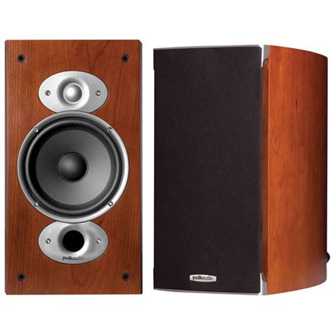 polk audio rtia3 125 watt bookshelf speakers cherry
