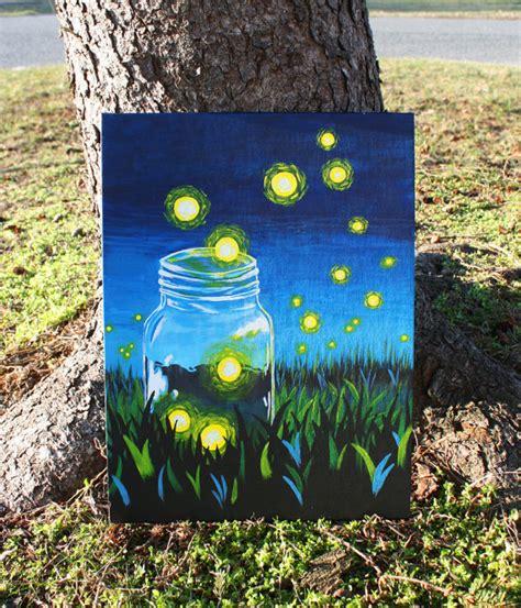 acrylic painting jars whimsical firefly jar acrylic painting on canvas
