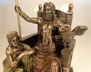 Greek God Statue King Zeus God Of Thunder Amp Hera On Throne Greek Mythology