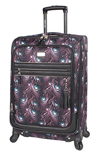 Steve Madden 28 Spinner Luggage by Steve Madden Large 28 Expandable Softside Luggage With Spinner Wheels 28in Peacock Best