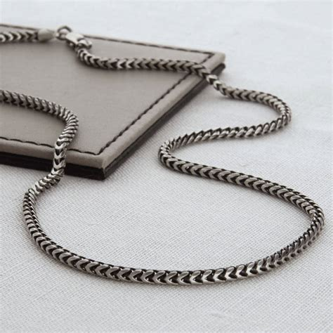 sterling silver s snake chain necklace by hurleyburley