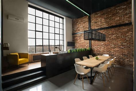 brick loft modern loft with surprising elements