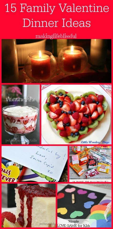 family valentines day ideas activities food ideas and dinner menu on pinterest