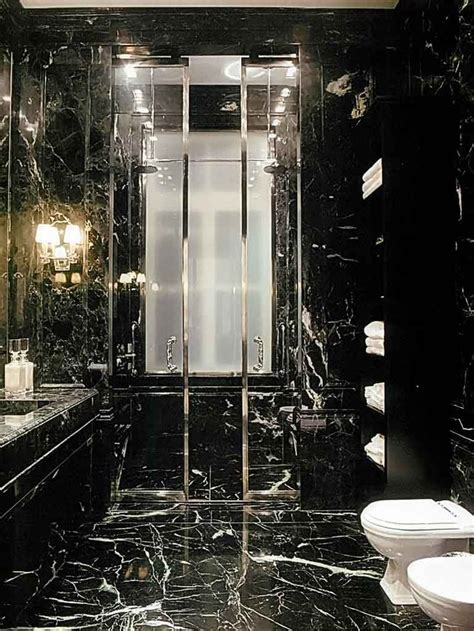 dark bathroom oh my goodness bathroom done completely in black marble