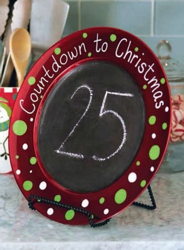 christmas countdown craft diy countdown chalkboard charger pinkwhen