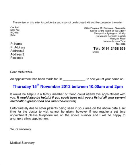 how to write a appointment letter for 16 simple appointment letters pdf doc free premium
