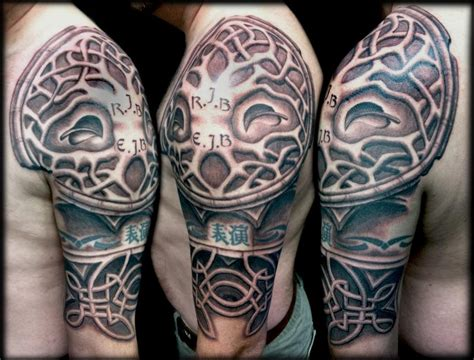 half sleeve tree tattoos celtic tree of half sleeve by maximilian